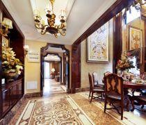 室内美式用欧式的拼花地砖装修图片