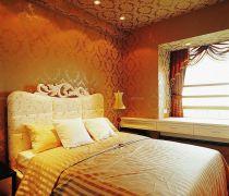 古典风格有飘窗的卧室效果图
