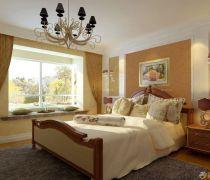 80平米房子双人床装修效果图片