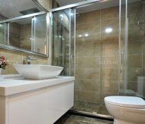 洗手间设计钢化玻璃隔断图片