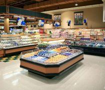 超市室内装饰产品展示柜图片