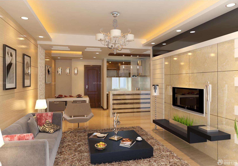 交换空间小户型客厅吊顶设计效果图