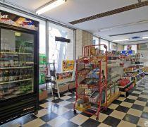 40-50平米超市黑白相间地砖装修效果图片