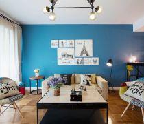 80平方的房子个性客厅装修图