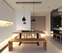 70平米时尚家装两室一厅一厨一卫设计装饰图
