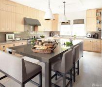 70-80平方小户型半开放式厨房装修效果图
